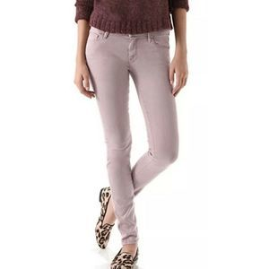 Mother The Looker Pop! French Lilac Skinny Jeans